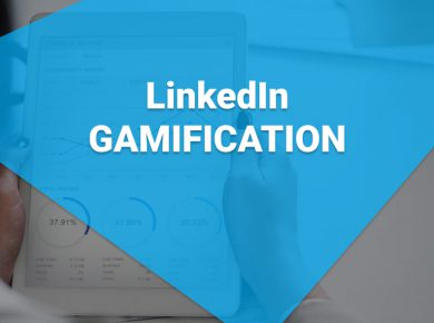 LinkedIn Gamification on a tablet