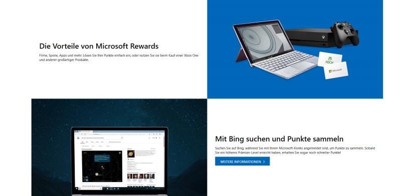 Microsoft Rewards Bonusprogramm